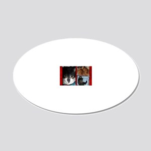 PT Cats 1 20x12 Oval Wall Decal