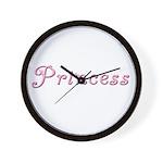 Princess (curly font) Wall Clock