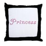 Princess (curly font) Throw Pillow