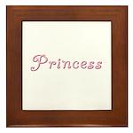 Princess (curly font) Framed Tile