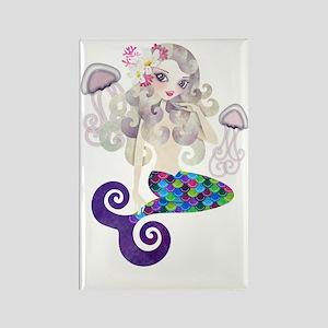 Amethyste Mermaid Rectangle Magnet