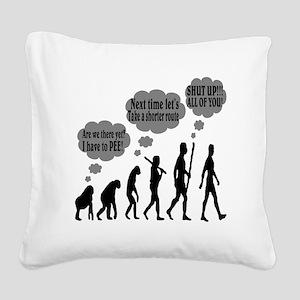 Evolution Square Canvas Pillow