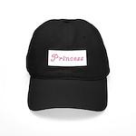 Princess (curly font) Black Cap