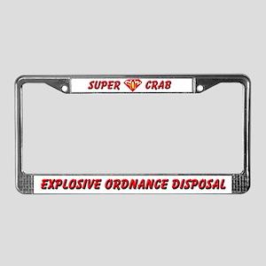 Super EOD Crab License Plate Frame