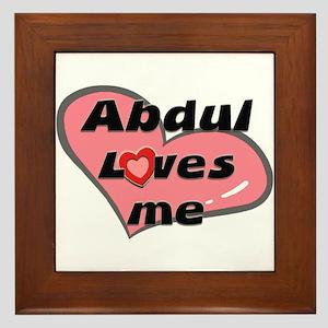 abdul loves me  Framed Tile