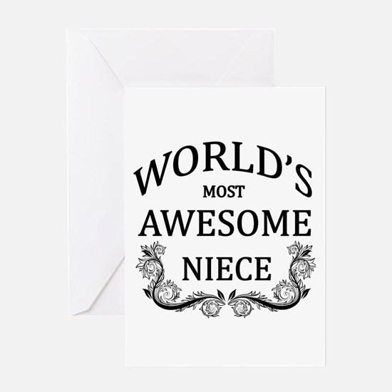 World's Most Awesome Niece Greeting Card