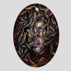 Medusa No.Three Framed Print Oval Ornament