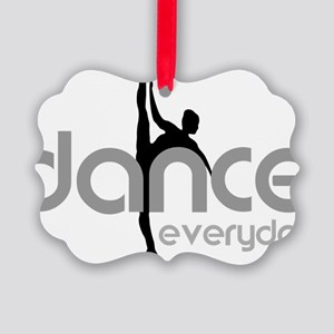 dance everyday Picture Ornament