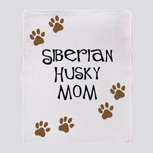 Siberian Husky Mom Throw Blanket