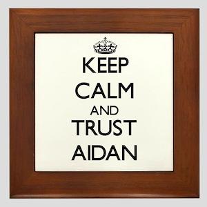 Keep Calm and TRUST Aidan Framed Tile
