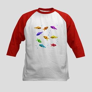 Rainbow Fish Kids Baseball Jersey