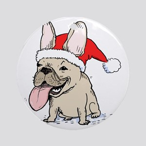 frenchieclause Round Ornament