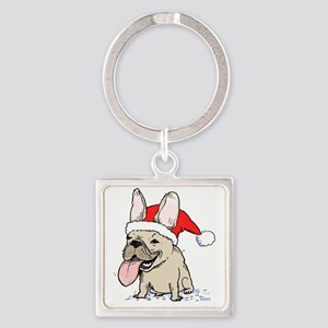 frenchieclause Square Keychain