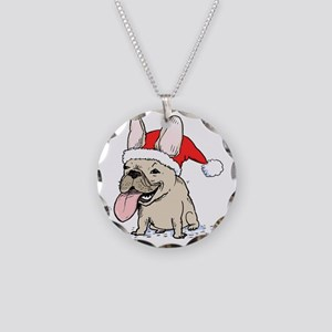 frenchieclause Necklace Circle Charm