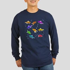Rainbow Fish Long Sleeve Dark T-Shirt