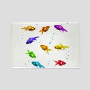 Rainbow Fish Rectangle Magnet
