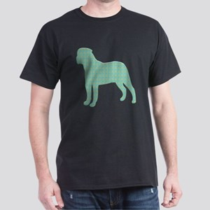 Paisley Bullmastiff Dark T-Shirt