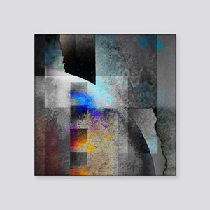 """Industrial Grunge with Gray Square Sticker 3"""" x 3"""""""
