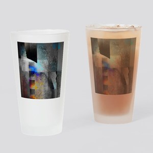 Industrial Grunge with Gray and Blu Drinking Glass