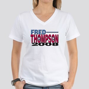 Fred Thompson President 2008 Women's V-Neck T