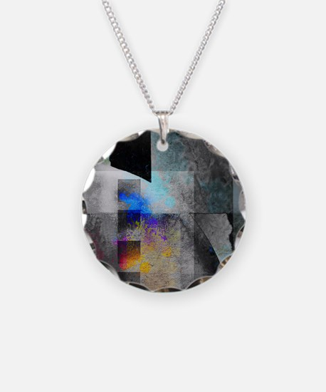 Industrial Grunge with Gray  Necklace