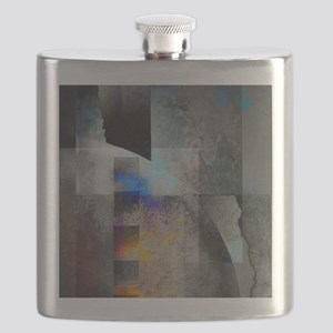 Industrial Grunge with Gray and Blue Flask