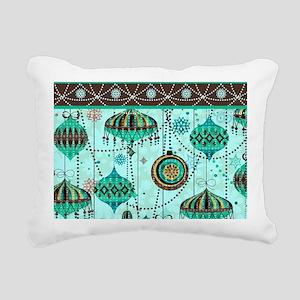 Green Tint Ornaments Rectangular Canvas Pillow