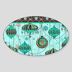 Green Tint Ornaments Sticker (Oval)