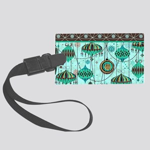 Green Tint Ornaments Large Luggage Tag