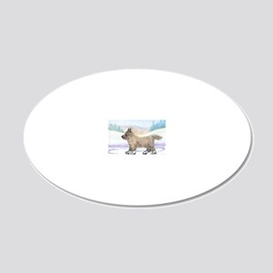 He enjoyed the wind through  20x12 Oval Wall Decal