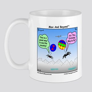 Ballooning Spiders Cartoon Mug