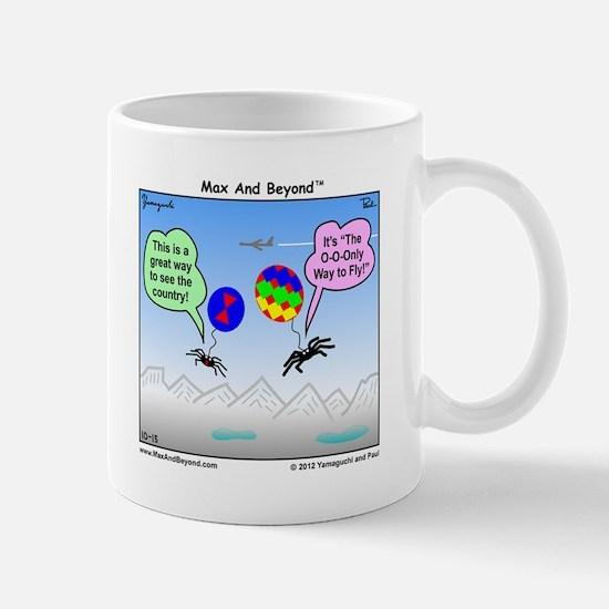 Ballooning Spiders Cartoon Mug