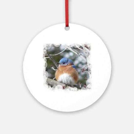 bluebird eastern Round Ornament