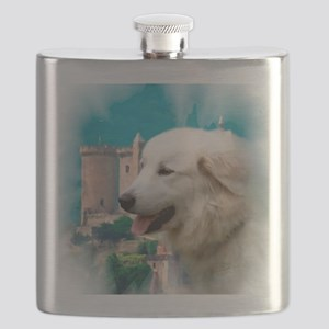 Great Pyrenees Shower Curtain - PyrCastle Flask