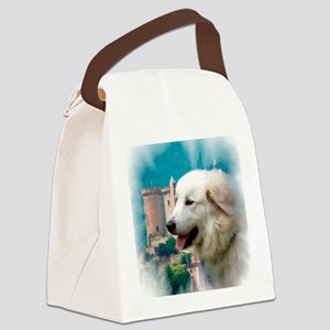 Great Pyrenees Shower Curtain - P Canvas Lunch Bag