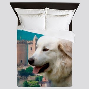 Great Pyrenees Shower Curtain - PyrCas Queen Duvet