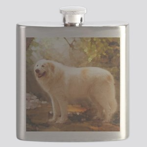 Great Pyrenees Shower Curtain - Alazon Flask