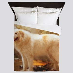 Great Pyrenees Shower Curtain - Alazon Queen Duvet