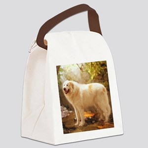 Great Pyrenees Shower Curtain - A Canvas Lunch Bag