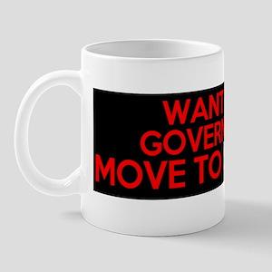 want less government move to somalia Mug