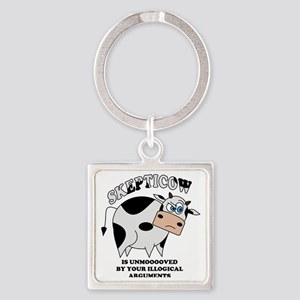Skepticow Square Keychain