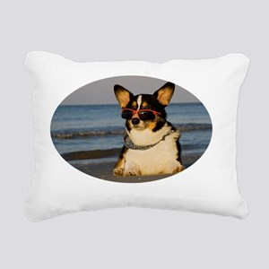 Boy Watching Rectangular Canvas Pillow