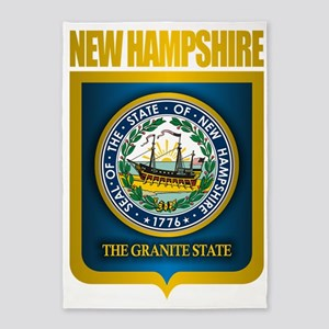 New Hampshire Seal (back) 5'x7'Area Rug