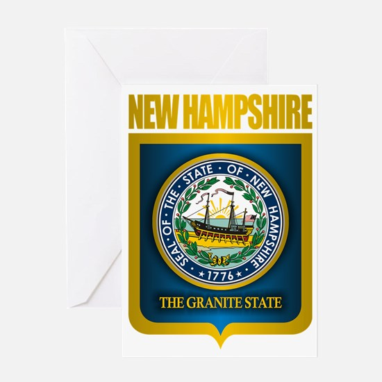 New Hampshire Seal (back) Greeting Card