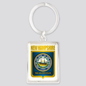 New Hampshire Seal (back) Portrait Keychain