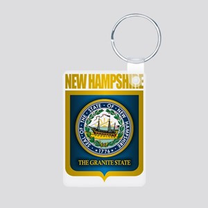 New Hampshire Seal (back) Aluminum Photo Keychain