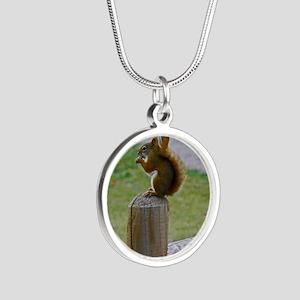 Squirrel Silver Round Necklace