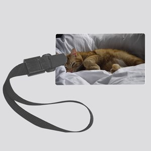 Afternoon Snooze Large Luggage Tag