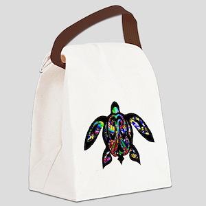 hawaiian honu turtle print Canvas Lunch Bag
