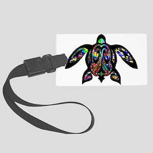 hawaiian honu turtle print Luggage Tag